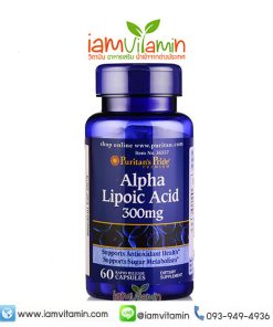 Puritan's Pride Alpha Lipoic Acid (ALA) 300 mg 60 Capsules