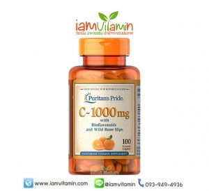 Puritan's Pride Vitamin C-1000 mg with Bioflavonoids & Rose Hips
