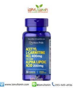 Puritan's Pride Acetyl L-Carnitine 400 mg with Alpha Lipoic Acid