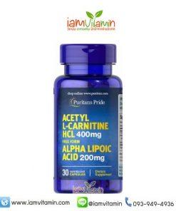 Puritan's Pride Acetyl L-Carnitine 400 mg with Alpha Lipoic Acid