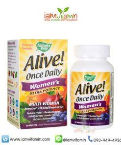 Alive Once Daily Women's Ultra Potency วิตามินรวมและแร่ธาตุ ผู้หญิง
