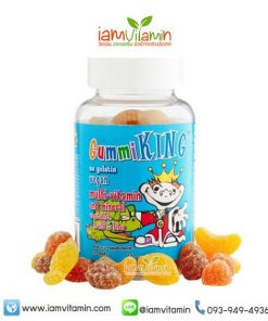 Gummi King multi-Vitamin & Mineral Vegetables, Fruit and Fiber For Kids 60 Gummies วิตามินรวม กัมมี่
