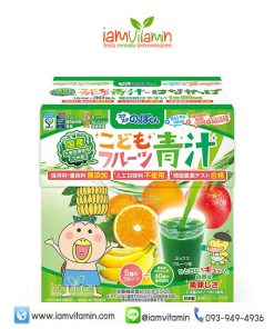 Aojiru Children's Fruit อาโอจิรุ ต้นอ่อนกรีนบาร์เลย์ เด็ก