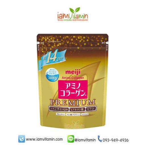 Meiji Amino Collagen Premium คอลลาเจน เปปไทด์
