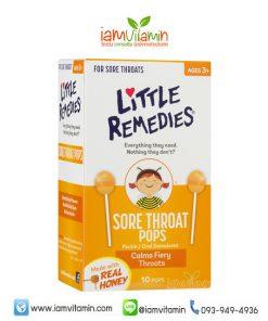Little Remedies Sore Throat Pops ลูกอม แก้เก็บคอ