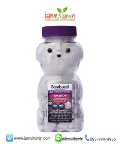 Sambucol Black Elderberry Chewable Teddies for Kids + Vitamin C