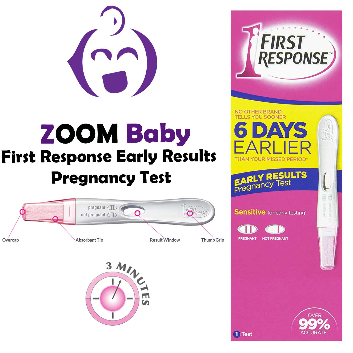 First Response Early Result Pregnancy Test ตรวจการตั้งครรภ์