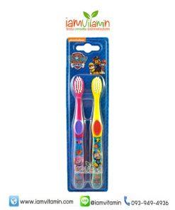 Paw Patrol Twin Toothbrush แปรงสีฟัน สำหรับเด็ก 3ปี