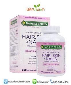 Nature's Bounty Hair Skin & Nails 250 Softgel วิตามินสำหรับเส้นผม ผิวหนัง และเล็บ