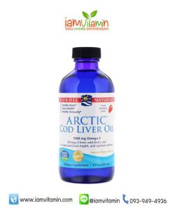 Nordic Naturals Arctic Cod Liver Oil Strawberry 237ml น้ำมันตับปลา