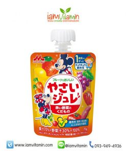 Morinaga Delicious Fruit Jelly Red Fruits & Vegetable 70g เยลลี่น้ำผักและผลไม้