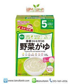 Wakodo Handmade Baby Food Koshihikari Vegetable อาหารเด็กสำเร็จรูป