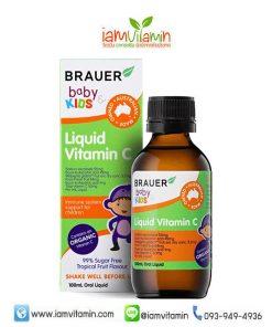 Brauer Baby & Kids Liquid Vitamin C 100ml วิตามินซี ออร์แกนิก