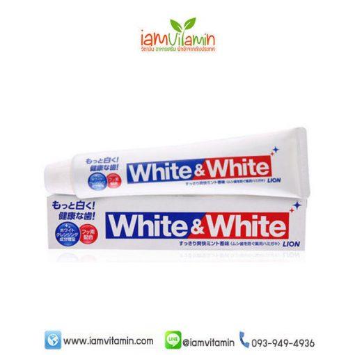ยาสีฟันญี่ปุ่น LION White & White