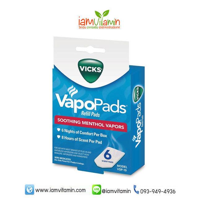 Vicks VapoPads Refill Scent Pads Soothing Menthol Vapor แผ่นวิค รีฟิล